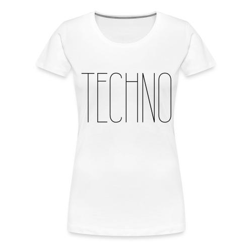 TECHNO #1 - Frauen Premium T-Shirt