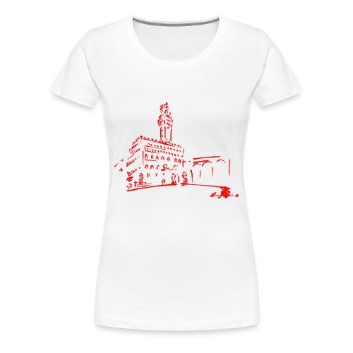 FIRENZE, PIAZZA DELLA SIGNORIA, PALAZZO VECCHIO - Maglietta Premium da donna