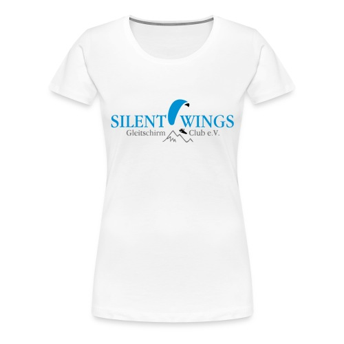 Silent Wings Logo 3 farbig - Frauen Premium T-Shirt
