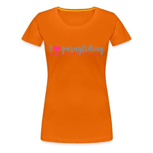 I ❤️ paragliding - Frauen Premium T-Shirt