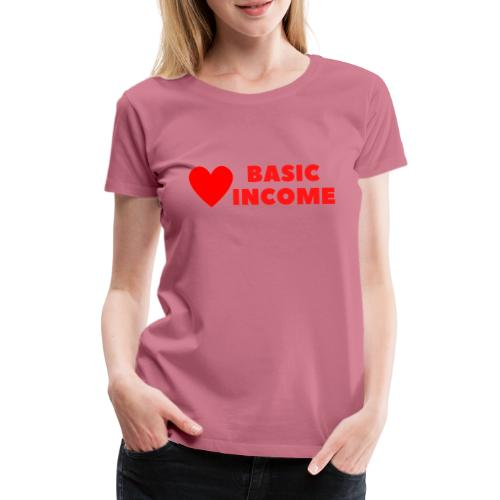 basic income red trans - Vrouwen Premium T-shirt