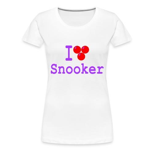 ilovesnooker - Women's Premium T-Shirt