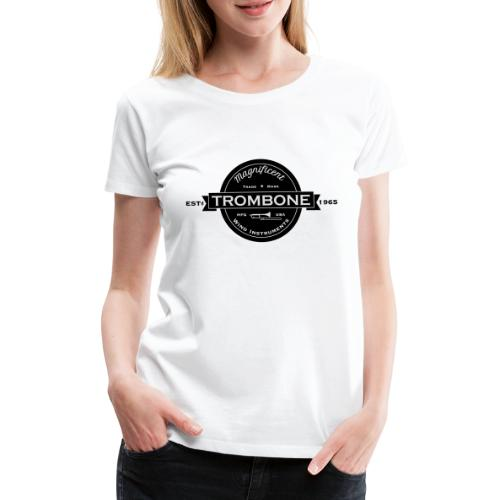 Trombone badge sw - Frauen Premium T-Shirt