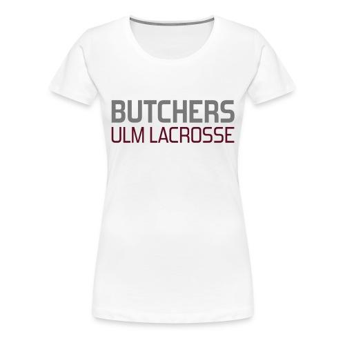 schriftzug dunkel groß - Frauen Premium T-Shirt