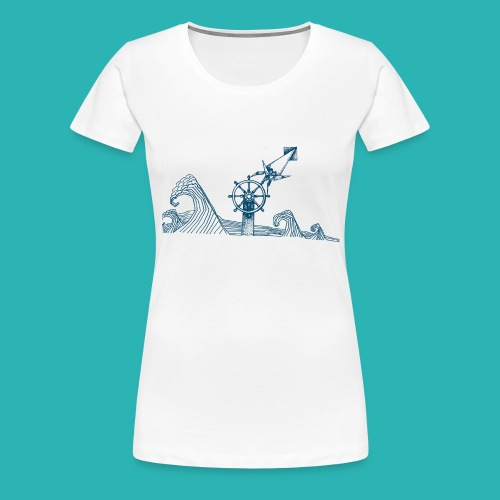Carta_timone_blu-png - Maglietta Premium da donna