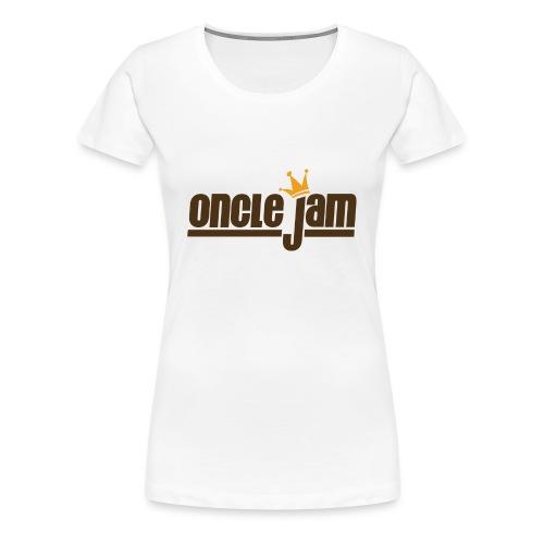 Oncle Jam horizontal brun - T-shirt Premium Femme