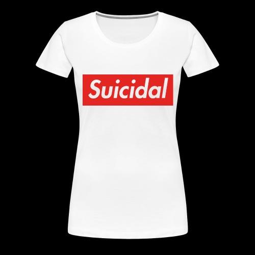 Suicidal Logo.png - Camiseta premium mujer