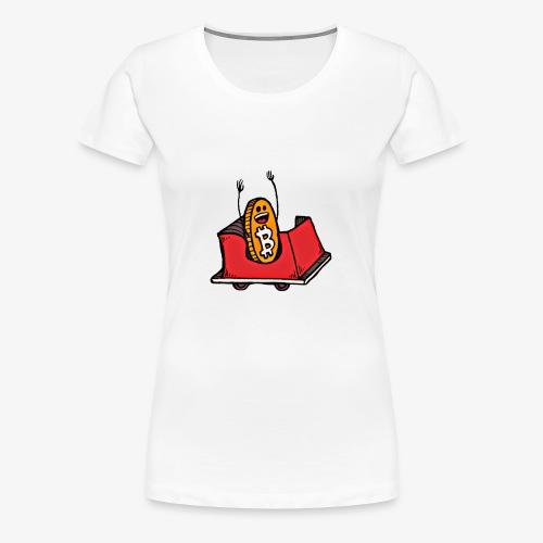 Bitcoin Rollercoaster Guy - Women's Premium T-Shirt