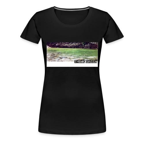 Think green - Frauen Premium T-Shirt