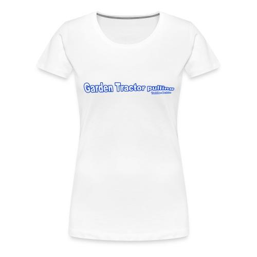 Garden Tractor pulling - Dame premium T-shirt