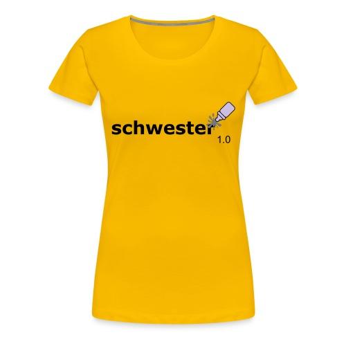 Schwester_1-0 - Frauen Premium T-Shirt