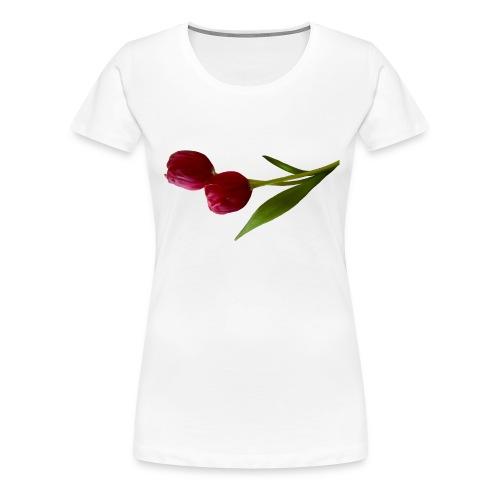 rote Tulpen - Frauen Premium T-Shirt