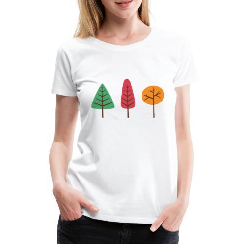 3 Trees Autumn - Vrouwen Premium T-shirt