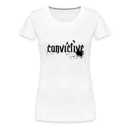 schriftzug schwarz - Frauen Premium T-Shirt