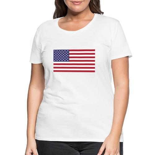 USA flagg - Premium T-skjorte for kvinner