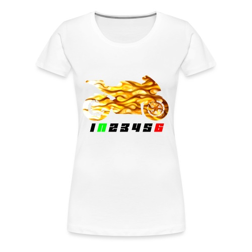 Mototrcycle flames - Women's Premium T-Shirt