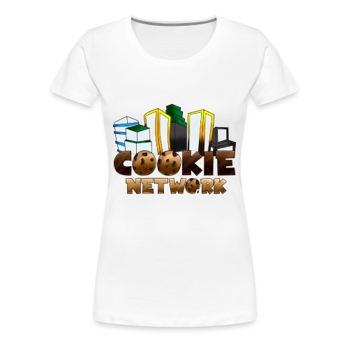 Cookienetwork logo - Vrouwen Premium T-shirt