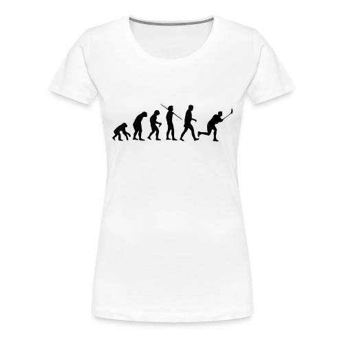 Floorball Evolution Black - Frauen Premium T-Shirt