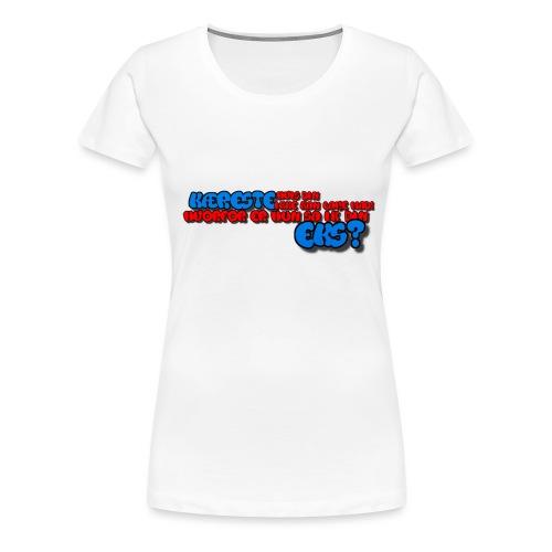 Forklæde med tekst - Dame premium T-shirt