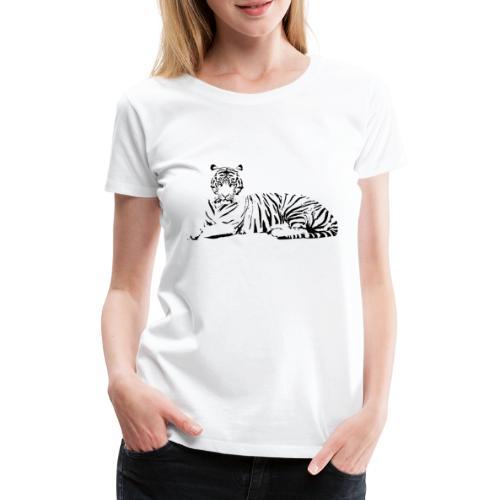 Weisser Tiger Shirt Geschenk - Frauen Premium T-Shirt