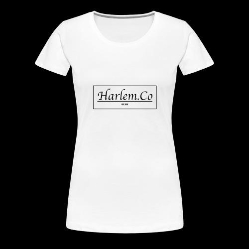 Harlem Co logo White and Black - Women's Premium T-Shirt