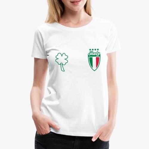 Italia Scudo e trifoglio - Maglietta Premium da donna