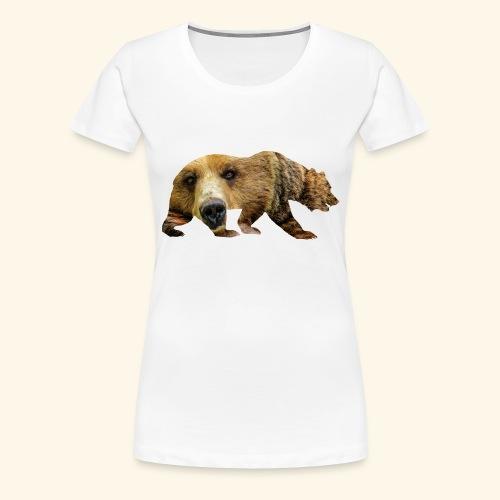 Ours Brun - T-shirt Premium Femme