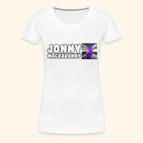 JonnyMackaronny Tekst med Logo - Premium T-skjorte for kvinner