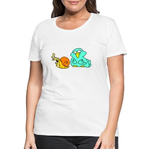 Schnecke und Vogel Nr 3 von dodocomics - Frauen Premium T-Shirt