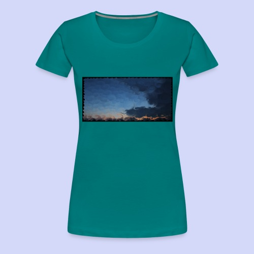 Sunset lovers - Morning tea cup - Dame premium T-shirt