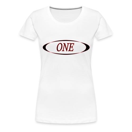 one - T-shirt Premium Femme