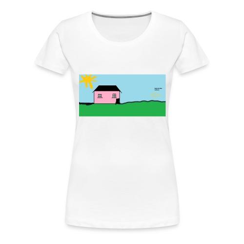 tskjorte med hus - Premium T-skjorte for kvinner