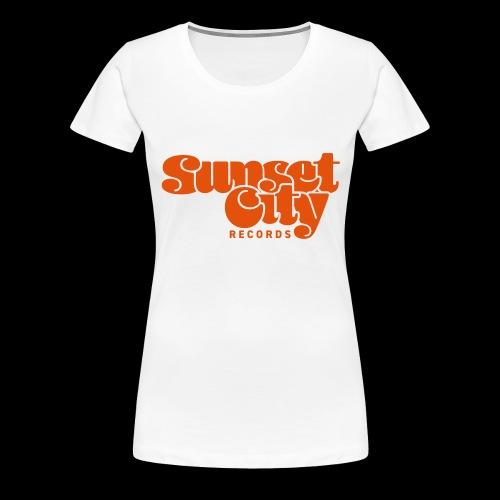 Sunset City Records Logo - Women's Premium T-Shirt