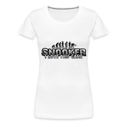 snooker i love this game - Frauen Premium T-Shirt