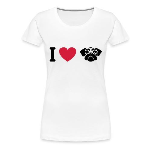 I love mops - Frauen Premium T-Shirt