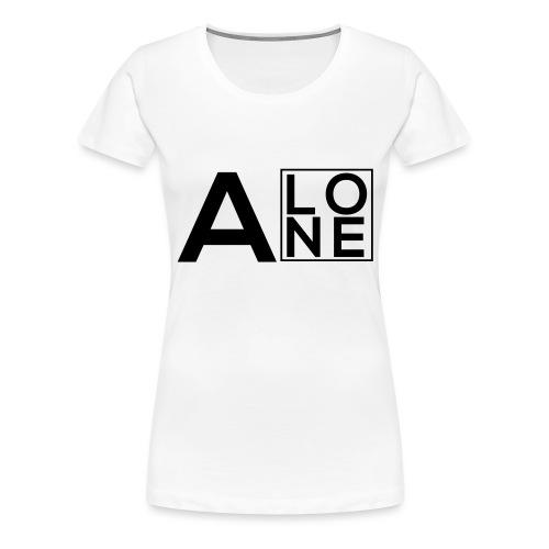 Alone Box Logo - Women's Premium T-Shirt