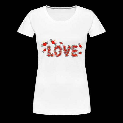 Flying Hearts LOVE - Women's Premium T-Shirt