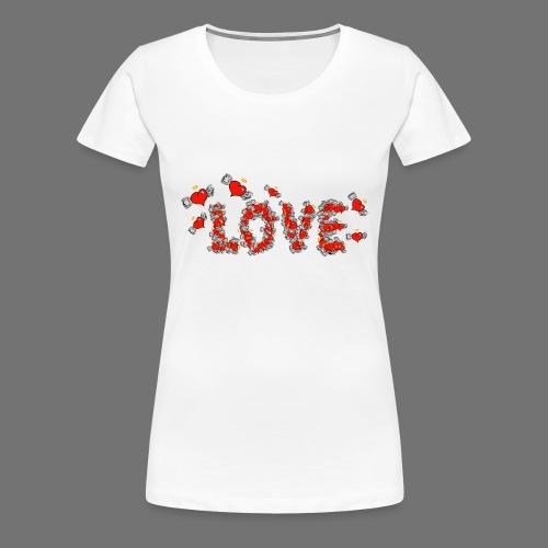 Fliegende Herzen LOVE - Frauen Premium T-Shirt