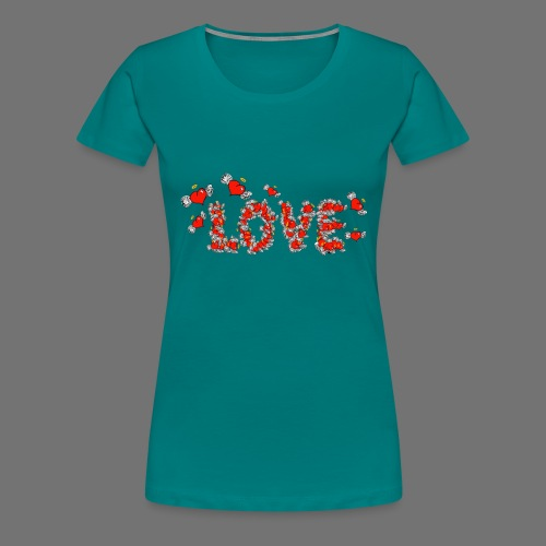 Flying Hearts LOVE - Women's Premium T-Shirt