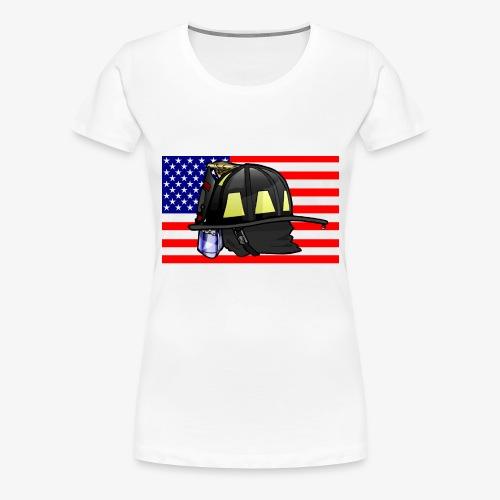 Casque pompier américain - T-shirt Premium Femme