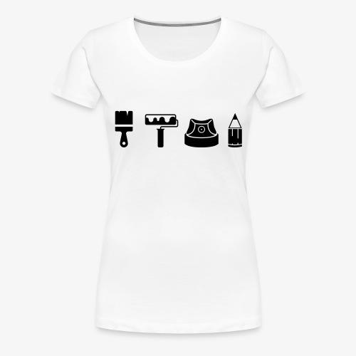 Graffiti Icons Full - Frauen Premium T-Shirt