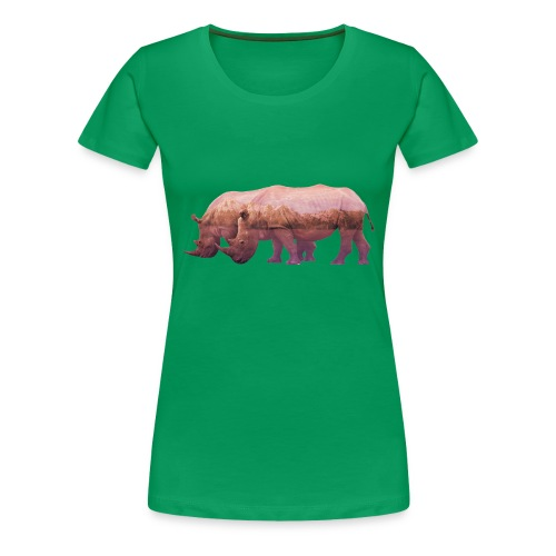 Nashorn Alpen - Frauen Premium T-Shirt