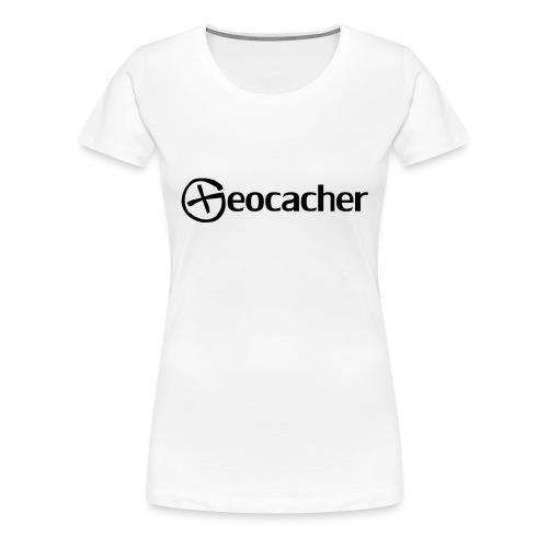 Geocacher - Naisten premium t-paita