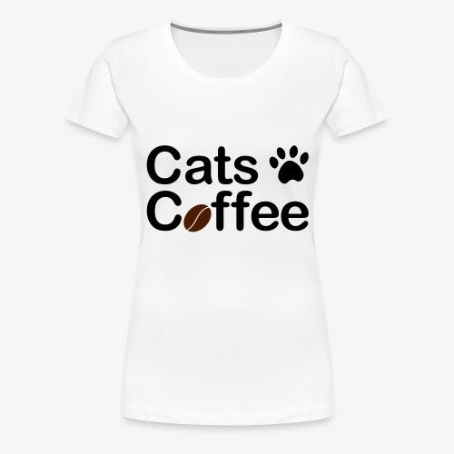 Katter & Kaffe - Premium-T-shirt dam