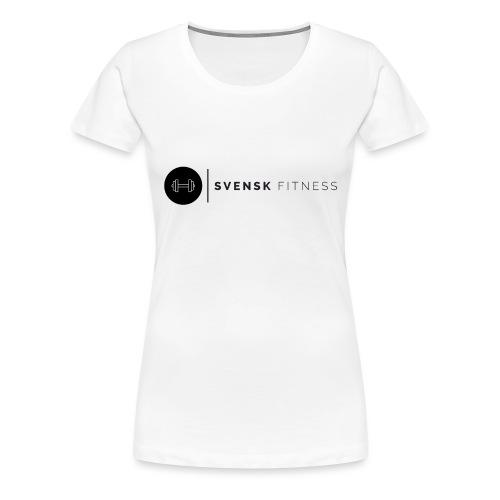 Linne med svart logotyp - Premium-T-shirt dam