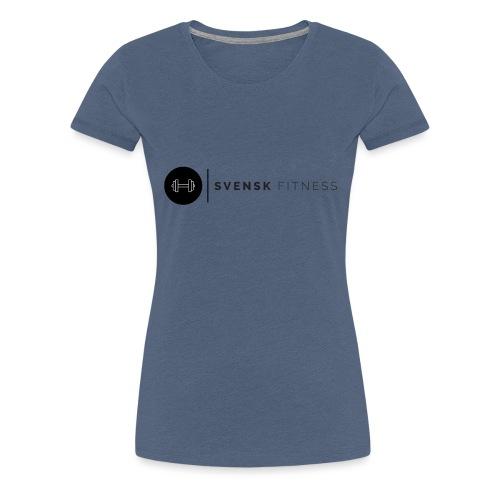 Linne med vertikal logo - Premium-T-shirt dam