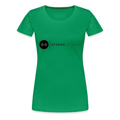 Svart logo vertikal dam - Premium-T-shirt dam