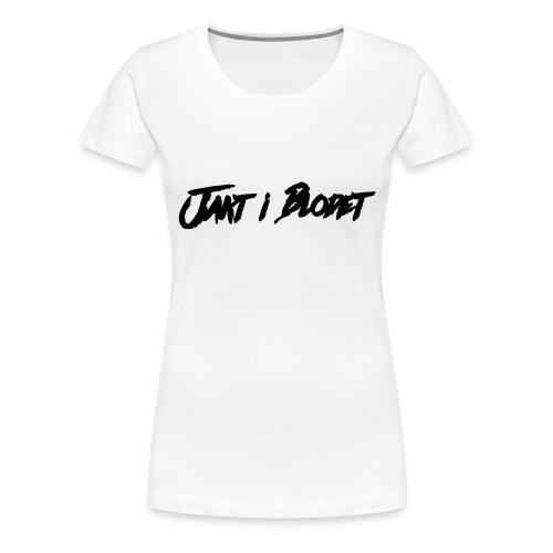 Svart vit mössa. jakt i blodet - Premium-T-shirt dam