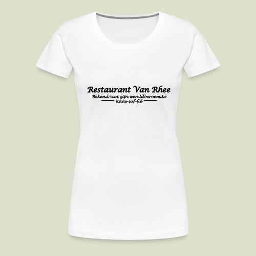 Van Rhee Kaas-suf-fle - Vrouwen Premium T-shirt