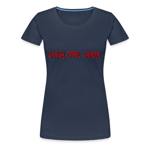 Dansk cool Gamer - Dame premium T-shirt
